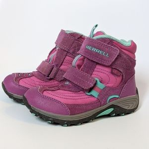 Merrell pink boots toddler girl size 10